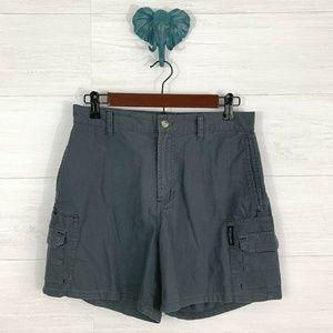 Columbia Blue Gray Cargo Pocket Outdoor Shorts